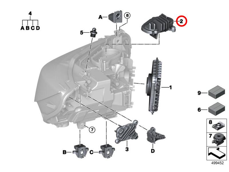 BMW 1/' 2/' 3/' 4/' Série F20 F21 F87 F30 F80 F31 Câble Bowden Hood avant JS
